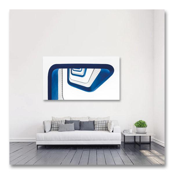 Un ruban bleu nous emmène vers l'infini et au-delà par Yvon HAZE