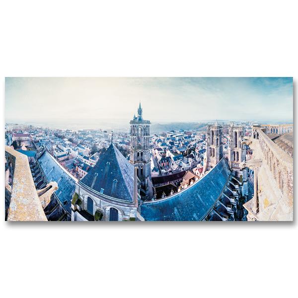 Les toits de la Cathédrale Notre-Dame de Laon par Yvon HAZE